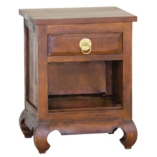 Joni Fine Handcrafted Solid Mahogany Wood Nightstand By Bloomsbury Market