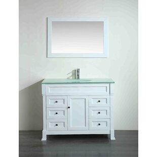 Riley 43 Single Bathroom Vanity Set with Mirror by Bosconi
