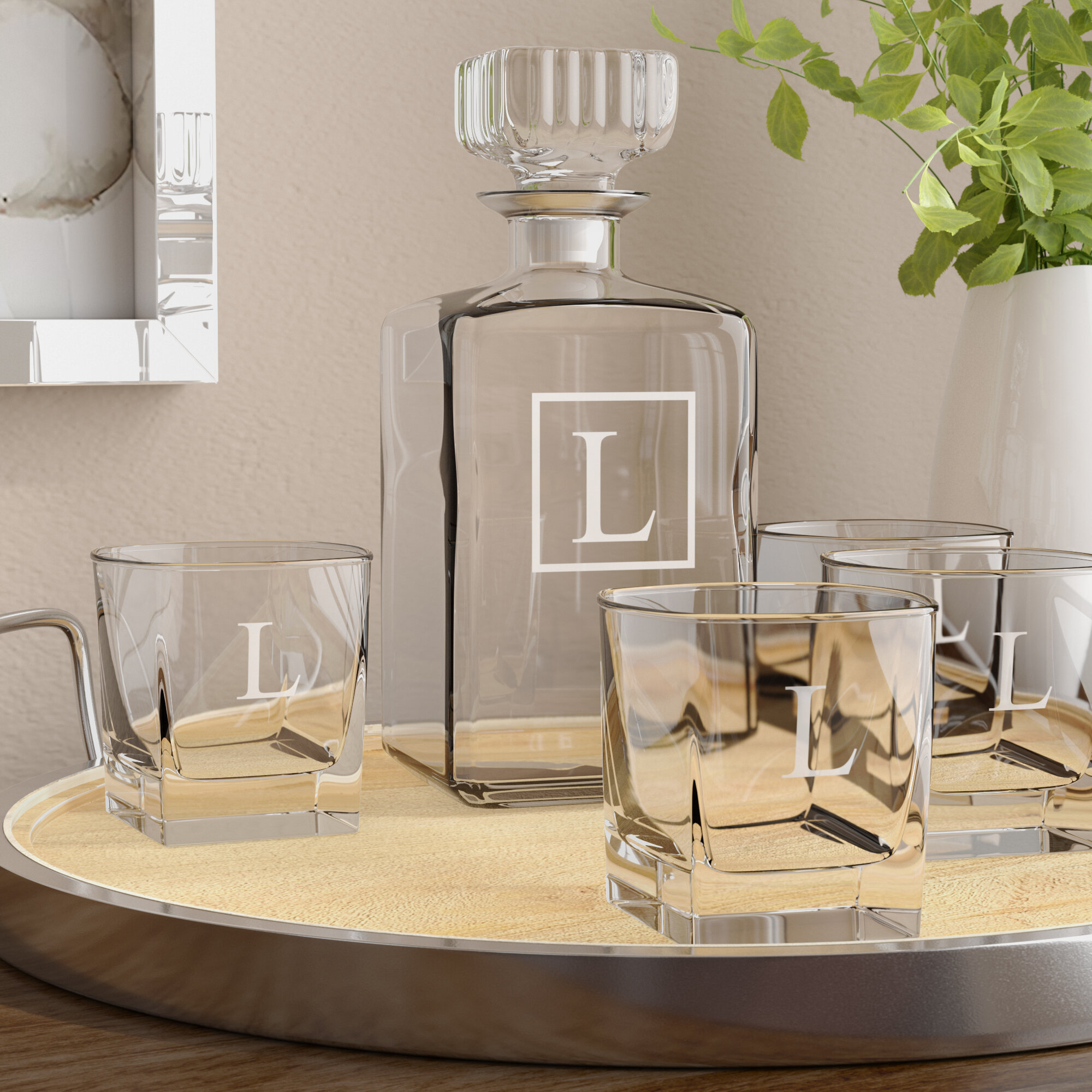 Darby Home Co Juliet 5 Piece Whiskey Decanter Set Reviews Wayfair
