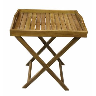 Burnette Patio Tray Table by Millwood Pines