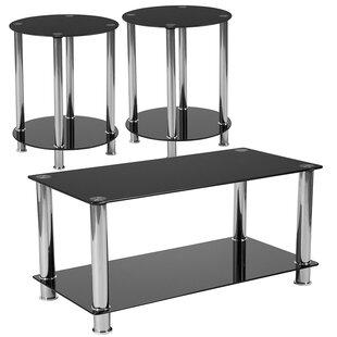 Ebern Designs Anson 3 Piece Coffee Table Set