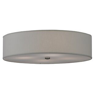 Meyda Tiffany Cilindro Textrene 4-Light Flush Mount