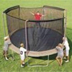14' Enclosure Trampoline Net Using 3 Arches