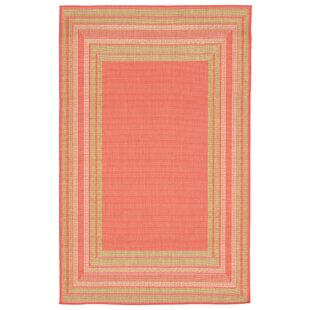 Inexpensive Clatterbuck Etched Pink Indoor/Outdoor Area Rug By Highland Dunes