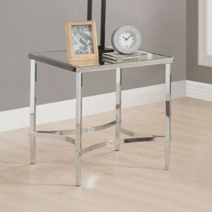 Ulen Modern Square Metal Frame End Table by Orren Ellis