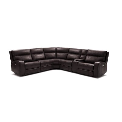 Arty Right Hand Facing Motion Reclining Sectional Latitude Run Upholstery Color: Chocolate