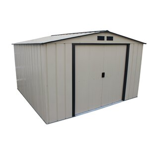 Duramax Building Products Eco 10 ft. 7 in. W x 9 ft. 11 in. D Metal Storage Shed