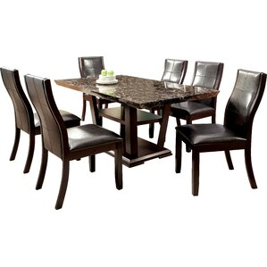 Leo Minor 7 Piece Dining Set by Latitude Run
