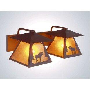 Looking for Moose Twin Prairie Vanity 2-Light Outdoor Wall Lantern By Steel Partners