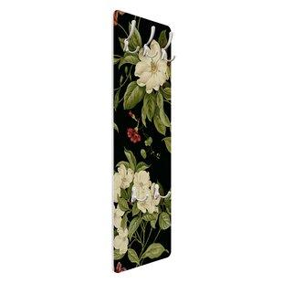 Garden Flowers On Black Wall Mounted Coat Rack By Symple Stuff