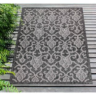 Arverne Baroque Gray Indoor/Outdoor Area Rug