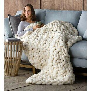 Wonarah Chunky Knit Wool Throw