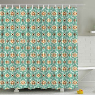 Old Fashioned Flowers Print Single Shower Curtain