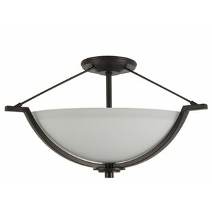 Woolridge 2-Light Semi Flush Mount by Winston Porter