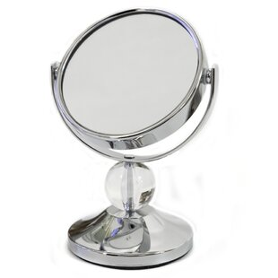 Inexpensive Crystal Ball Mini Dual Sided Vanity Mirror By Sweet Home Collection