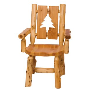 Traditional Cedar Log Cut Out Armchair by Fireside Lodge