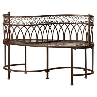 Lemoine Iron Patio Bench by Lark Manor Reviews