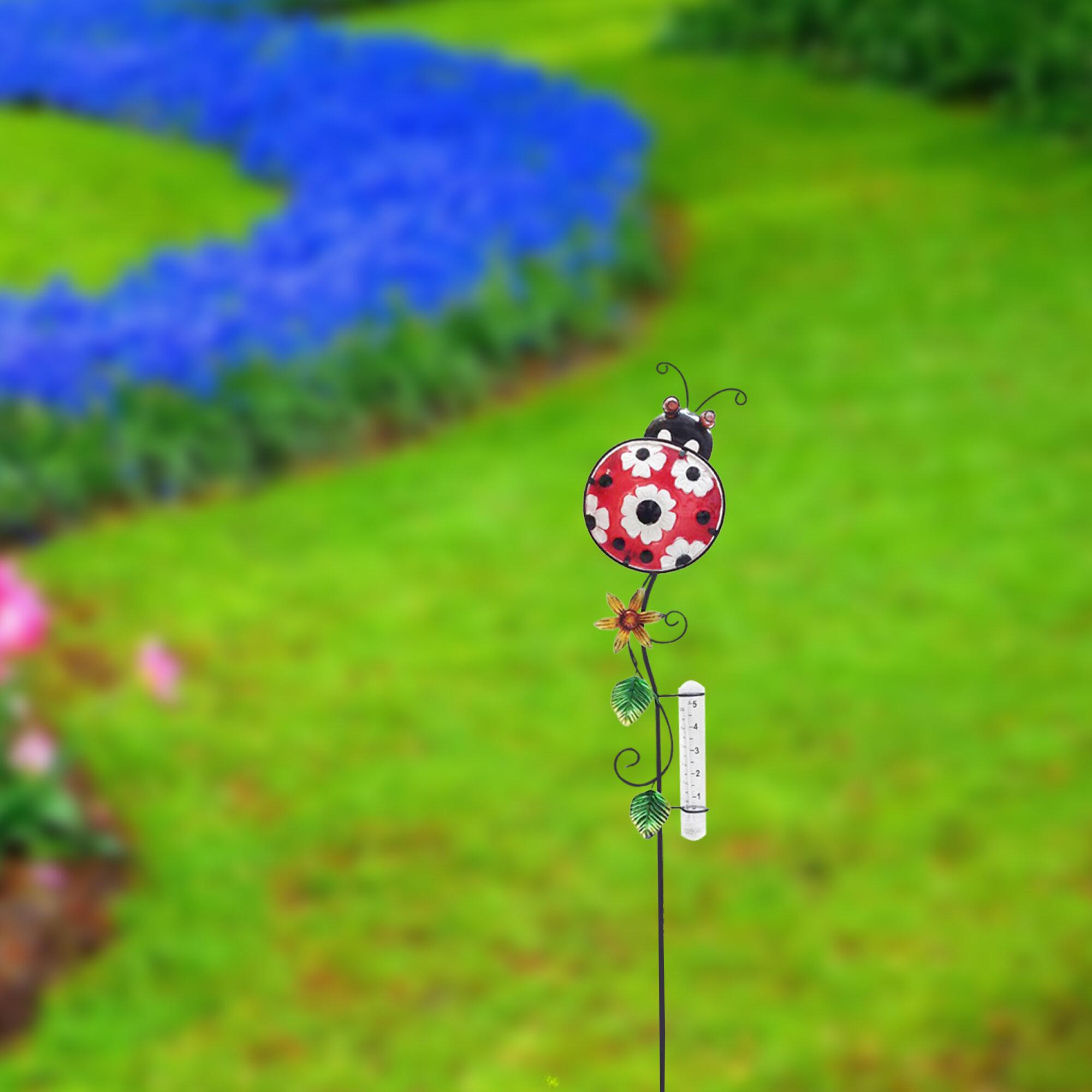 Beau Rearick Painted Ladybug Garden Stake