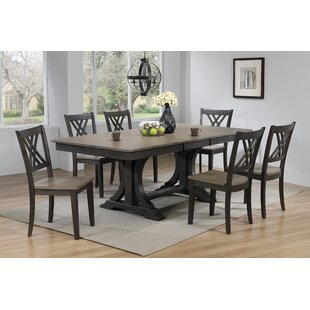Kathie 7 Piece Solid Wood Dining Set Canora Grey