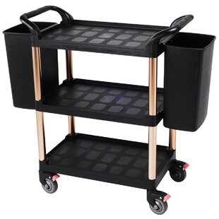 3 Tiers Plastic Serving Bar Cart