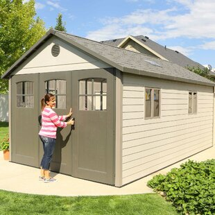 Lifetime 11 ft. W x 18 ft. 5 in. D Plastic Storage Shed