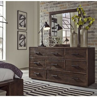 Bowyer Wooden 7 Drawer Double Dresser by Foundry Select Fresh