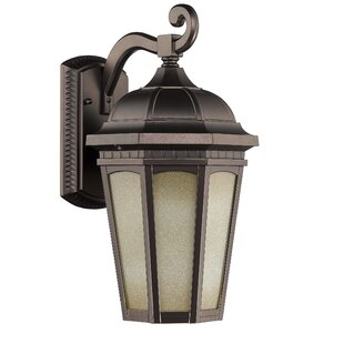Compare prices Hurlburt 1-Light Outdoor Wall Lantern By Fleur De Lis Living