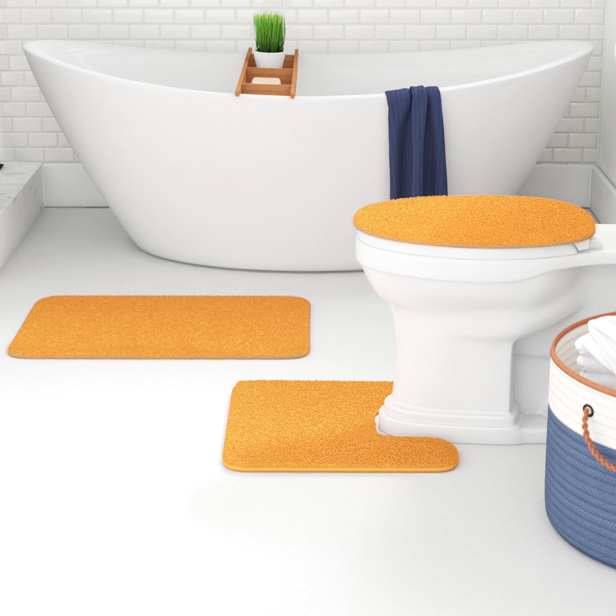 Orange Bath Rugs Mats Free Shipping Over 35 Wayfair