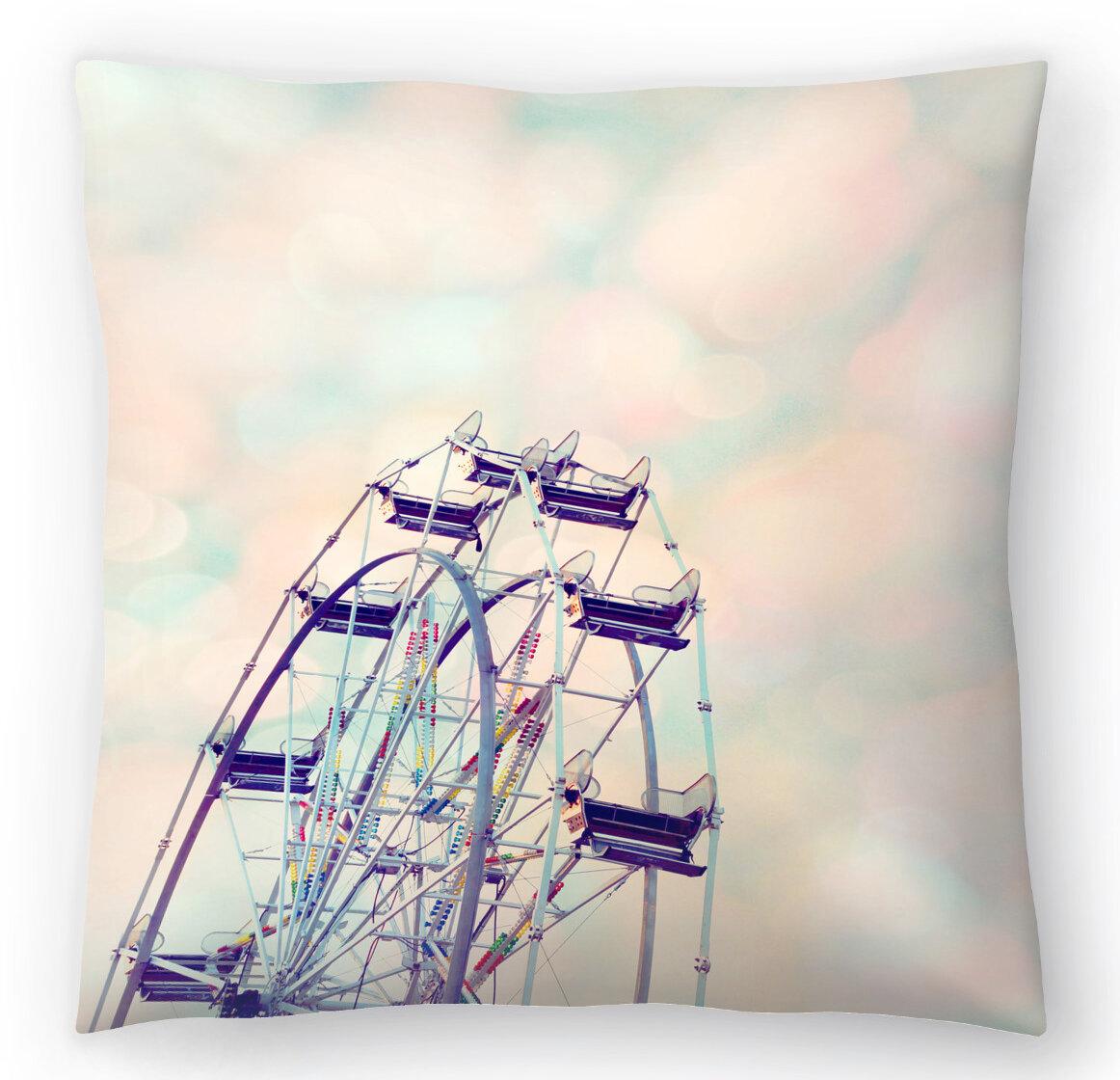 East Urban Home The Gingham Owl Rainbow Sherbet Sky Throw Pillow Wayfair