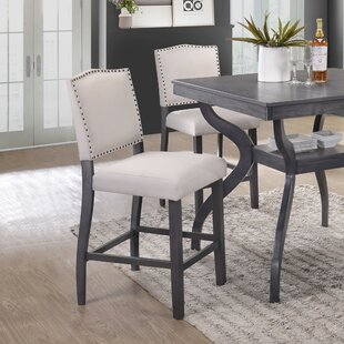 Palmyra Counter Height Upholstered Dining Chair (Set of 2) DarHome Co