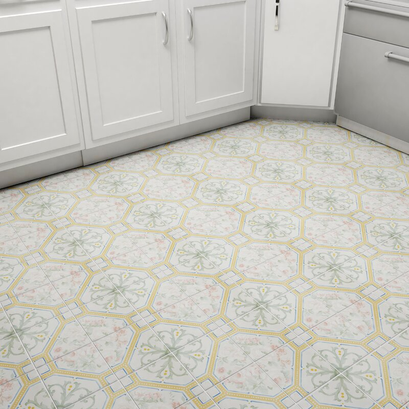 Elitetile Tudor 13 X 13 Ceramic Field Tile In Matte Ivory Wayfair