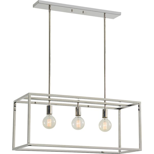 Giard Stainless Steel Ceiling Fixture 3 Light Kitchen Island Pendant