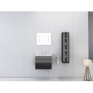 Kimbrough 24 Wall-Mounted Single Bathroom Vanity Set with Mirror By Orren Ellis