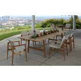 Coast 9 Piece Teak Dining Set with Cushions