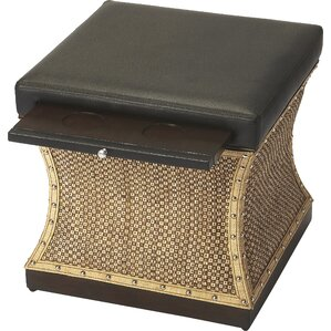 Cosmopolitan Leather Mathilda Raffia Ottoman by Butler