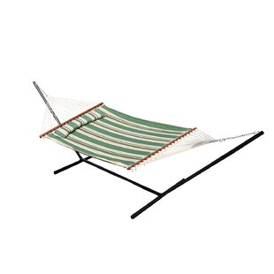 Breakwater Bay Chapman Double Quilted Reversible Cotton Camping Hammock