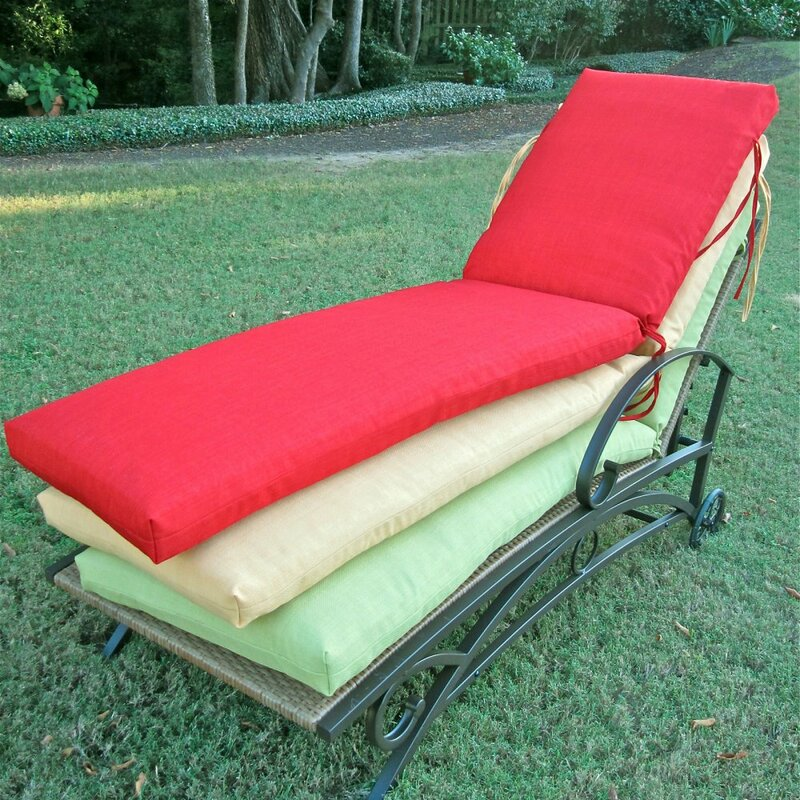 Indoor/Outdoor Patio Chaise Lounge Cushion
