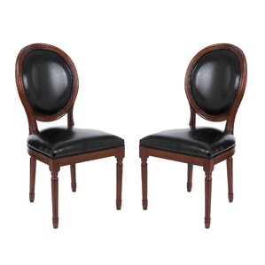 Schofield Vintage French Round Upholstered Side Chair (Set of 2) by Darby Home Co