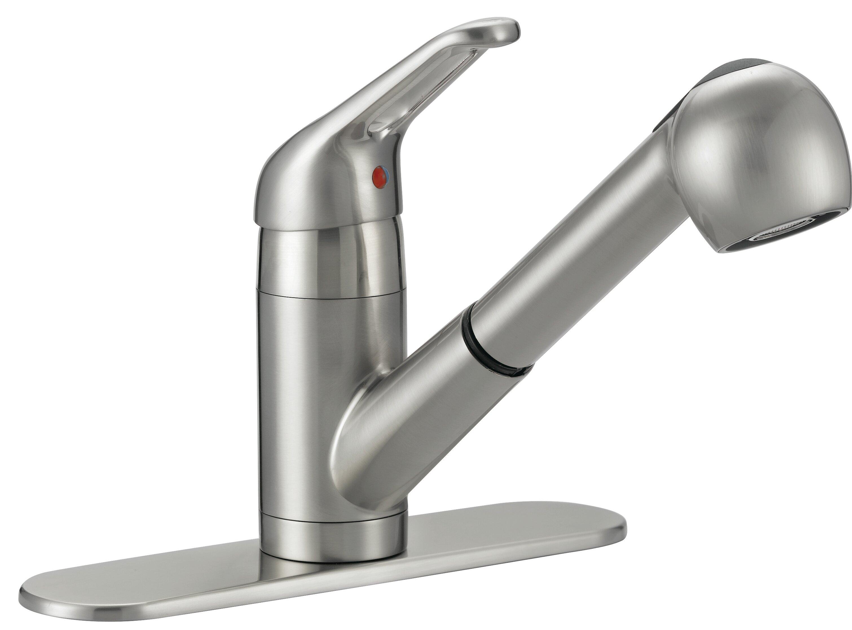 Aqua Plumb Pull Out Single Handle Kitchen Faucet Wayfair