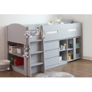 Trujillo Single Mid Sleeper Bed With Drawer, Shelves And Bookcase By Isabelle & Max