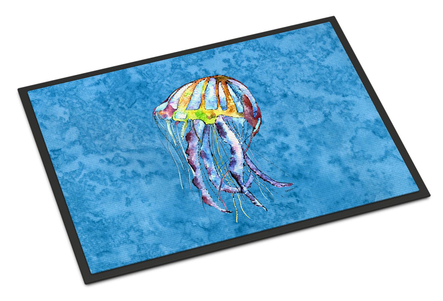 Caroline S Treasures Jellyfish 36 In X 24 In Non Slip Indoor Door Mat Wayfair