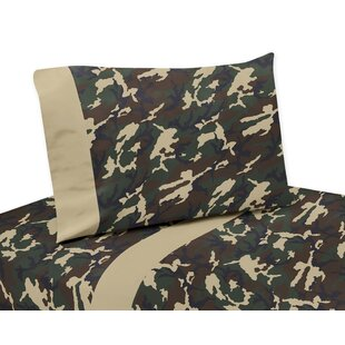 Sweet Jojo Designs Camo 4 Piece 100% Cotton Sheet Set