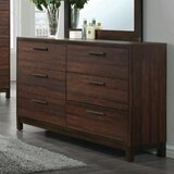 Velma 6 Drawer Double Dresser with Mirror by Union Rustic