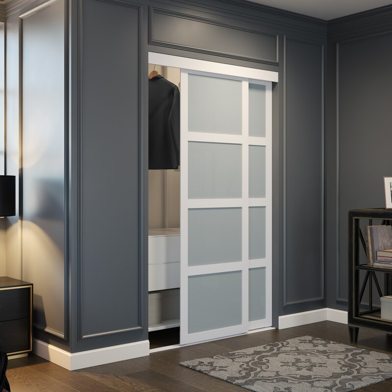 Frosted Gl Sliding Closet Door