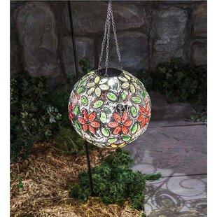 Hanging Solar Flower Jewel Ball Gazing Globe