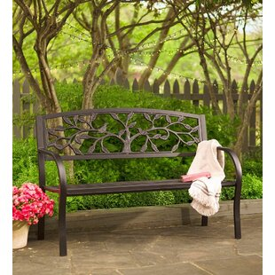 Tree Of Life Metal Garden Bench by Plow & Hearth New Design