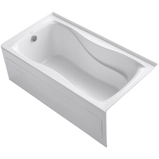 Kohler Hourglass Alcove Bath with Integral Apron and Tile Flange and Left-Hand Drain
