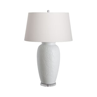 Epperson Lotus Engraved Vase Table Lamp
