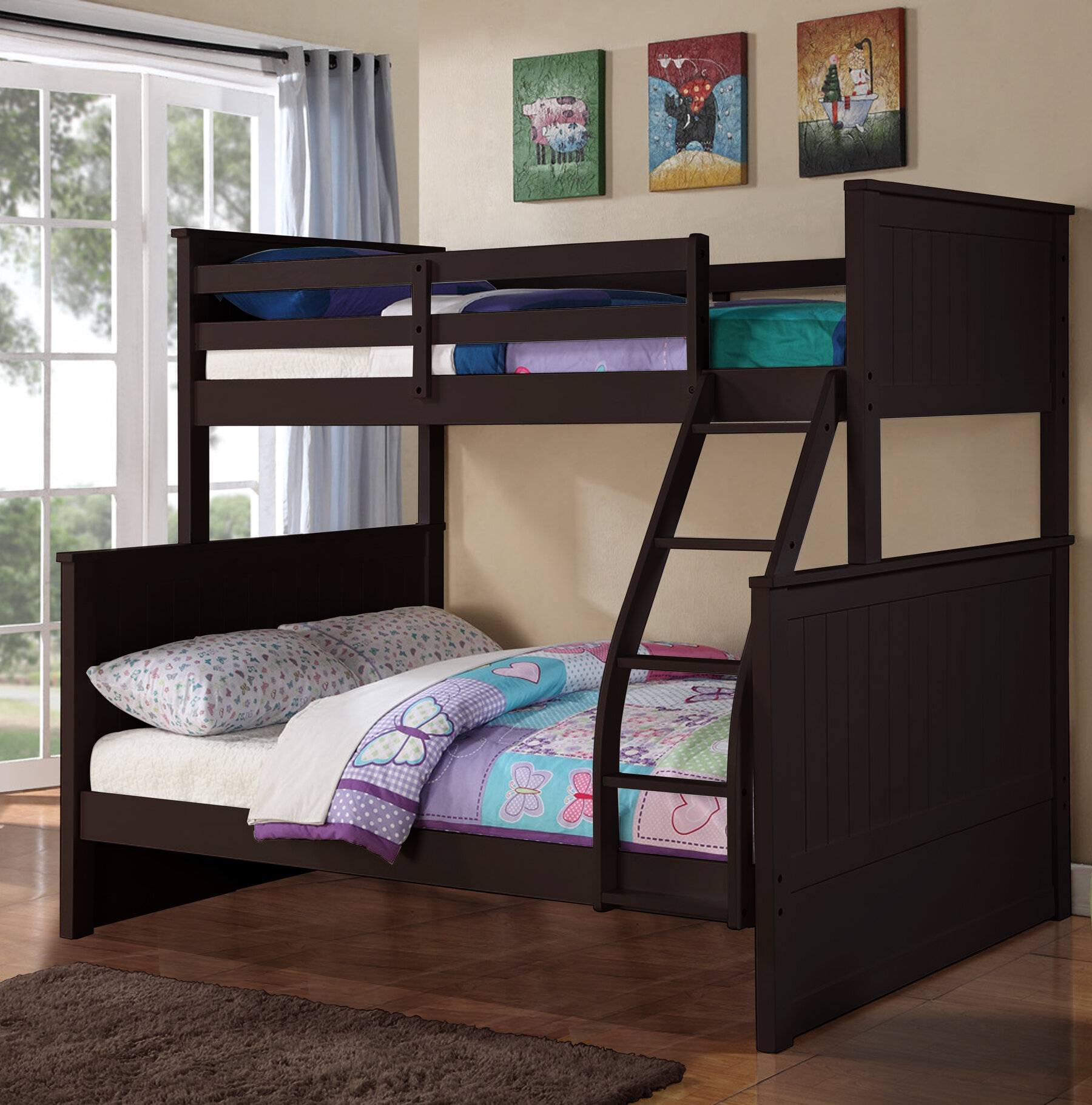 Harriet Bee Gertrude Twin Over Full Bunk Bed Reviews Wayfair