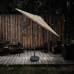 Hoquiam 2.7m Traditional Parasol With Lights By Sol 72 Outdoor